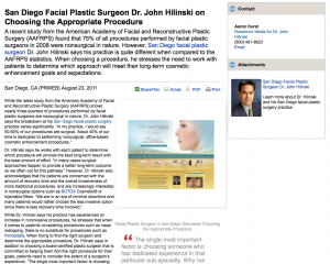 facial, plastic, surgeon, surgery, san, diego, ca