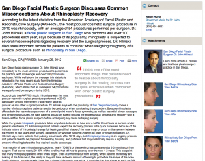 plastic, surgeon, surgery, rhinoplasty, recovery, san, diego, ca